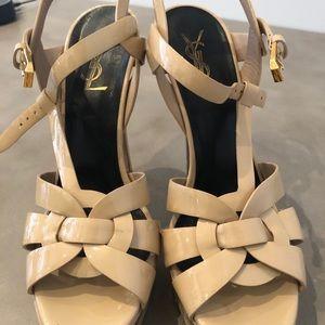 Tribute YSL 105 Patent Leather Platform Sandals